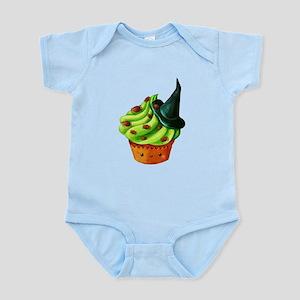 Green Halloween Cupcake Body Suit