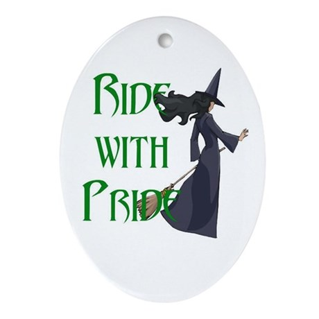 Ride with Pride Oval Ornament