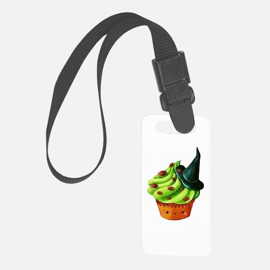 Green Halloween Cupcake Luggage Tag
