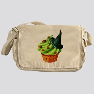 Green Halloween Cupcake Messenger Bag