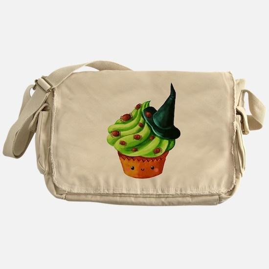 Green Halloween Cupcake Messenger Bag