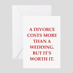 divorce Greeting Card