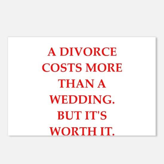divorce Postcards (Package of 8)