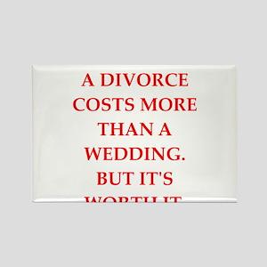 divorce Rectangle Magnet