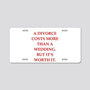 divorce Aluminum License Plate