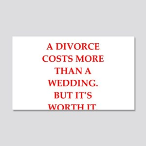 divorce 20x12 Wall Decal