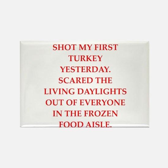 turkey shoot Rectangle Magnet