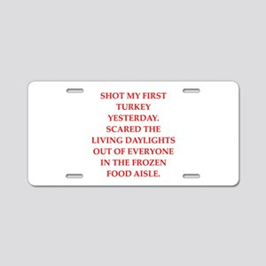 turkey shoot Aluminum License Plate