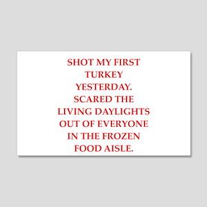 turkey shoot 20x12 Wall Decal