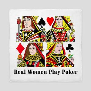 Real Women Play Poker Queen Duvet