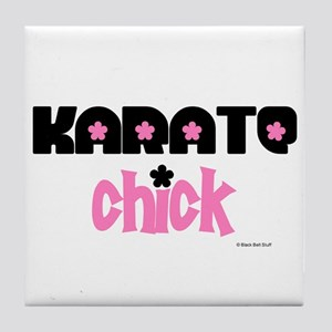 Karate Chick (Cotton Candy) Tile Coaster