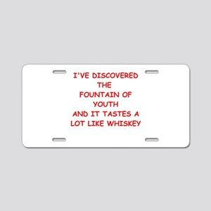 WHISKEY Aluminum License Plate