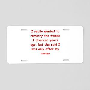 remarry Aluminum License Plate