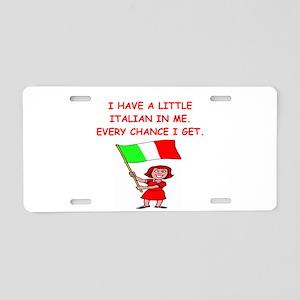 ITALIAN Aluminum License Plate