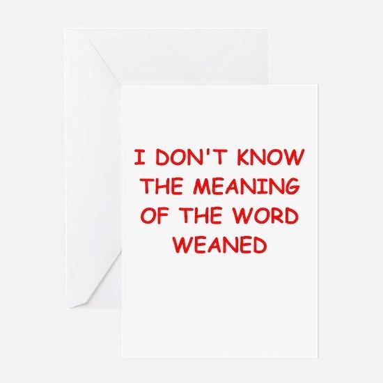 WEAN.ed Greeting Card