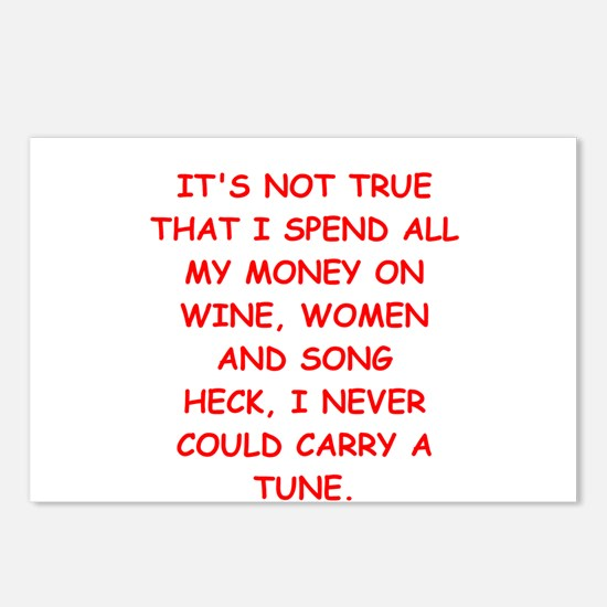 wine,women,and song Postcards (Package of 8)