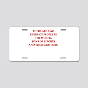 SONS Aluminum License Plate