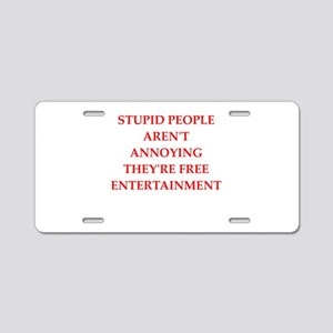 nsult Aluminum License Plate