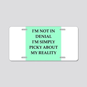 denial Aluminum License Plate