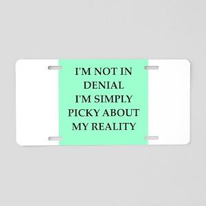 denial Aluminum License Plate