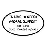 Questionable Moral Support Sticker (Oval 10 pk)