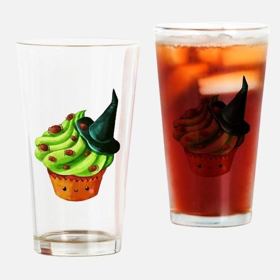 Green Halloween Cupcake Drinking Glass