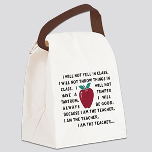 I am the Teacher! Canvas Lunch Bag