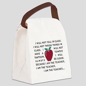 I am the Teacher! Canvas Lunch Bag