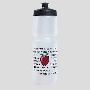 I am the Teacher! Sports Bottle