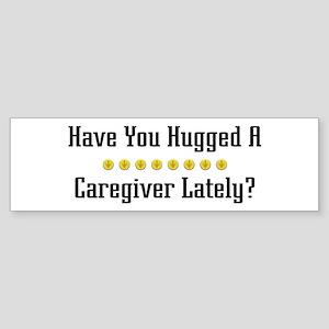 Hugged Caregiver Bumper Sticker