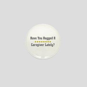 Hugged Caregiver Mini Button