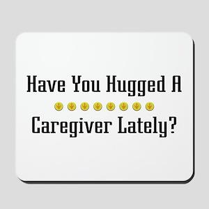 Hugged Caregiver Mousepad
