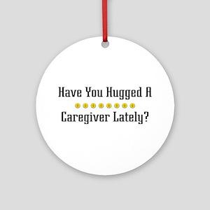 Hugged Caregiver Ornament (Round)