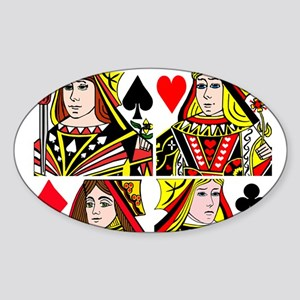 Real Women Play Poker Sticker