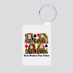 Real Women Play Poker Keychains