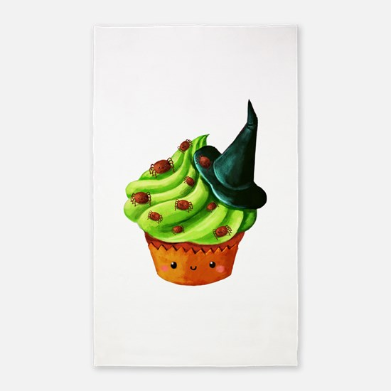 Green Halloween Cupcake 3'x5' Area Rug