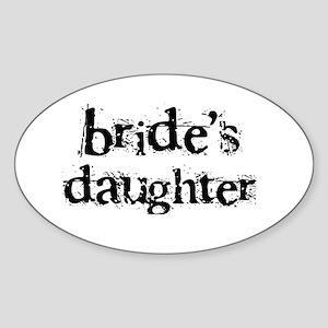 Bride's Daughter Oval Sticker