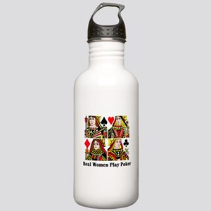 Real Women Play Poker Stainless Water Bottle 1.0L