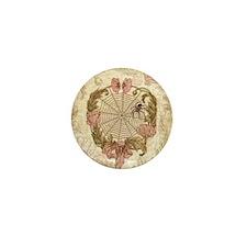 Spider Flower Wreath Mini Button