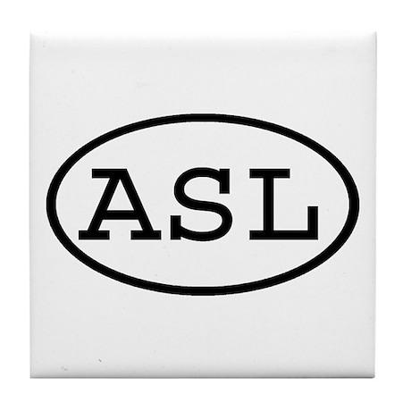 ASL Oval Tile Coaster