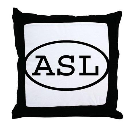 ASL Oval Throw Pillow