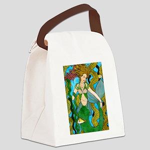 Seaweed Mermaid Canvas Lunch Bag