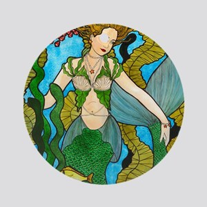 Seaweed Mermaid Ornament (Round)