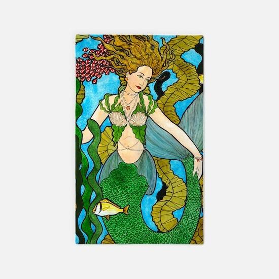 Seaweed Mermaid 3'x5' Area Rug