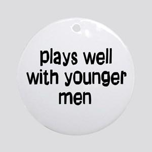 younger men Ornament (Round)