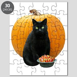 Black Cat Pumpkin Puzzle