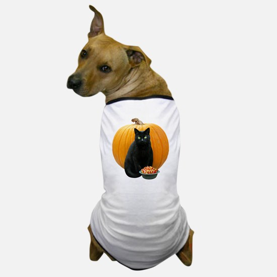 Black Cat Pumpkin Dog T-Shirt