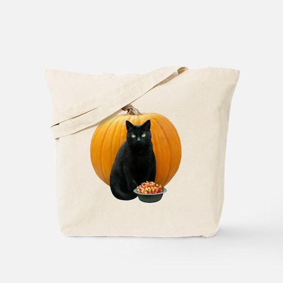 Black Cat Pumpkin Tote Bag