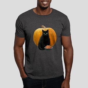 Black Cat Pumpkin Dark T-Shirt