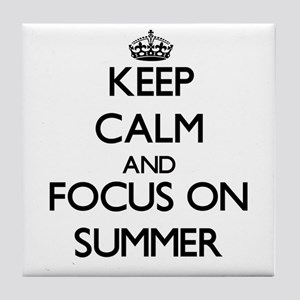 Keep Calm and focus on Summer Tile Coaster